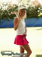 Pictures of Casey Parker getting naked on a golf course
