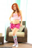 Redhead teen Sexy Pattycake gives you a striptease