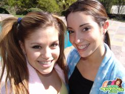 Teen Topanga and Chloe 18 invite you to join them for a naughty picnic