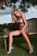 Pictures of teen Jodie Gasson stripping outside