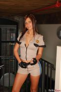 Pictures of Bailey Knox dressed as a sexy cop to get you off