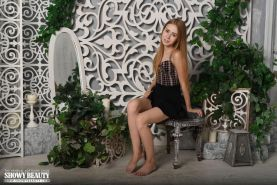 Blonde teen Marika spreads her legs for you in Delicate Lace