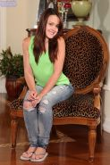 Izzi Ryder rubs her finger up and down her clit