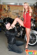 Pictures of Sabrina Blond getting fucked by a biker