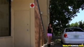 Amateur girl Hazel Rose gets picked up and fucked by a stranger
