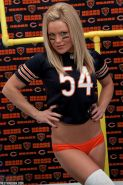 Blonde babe Madden sends some love to her football team