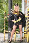 Pictures of Kayden Kross dressed as Bat-Girl for Halloween