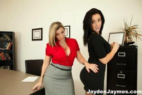 Busty Jayden Jaymes Has To Please Her Very Busty Boss Sara Jay In A Big Boobed Lovers Dream