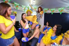 Harley Jade and her college friends have a hot football-themed orgy