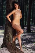 "Pretty girl Calla A strips nude for you in ""Spiny Forest"""