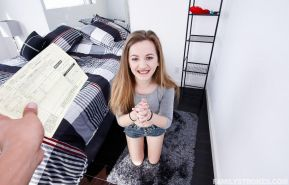Brunette teen Marissa Mae bones her step brother