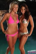 Pictures of Cali Logan getting naughty and wet with her friend