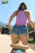 Remy LaCroix bounces her big booty on a hard cock after a bike ride