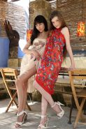 """Hot girls Emily and Martina strip nude and spread their legs in """"Still friends"""""""