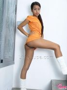 Latin teen model Lupe takes a moment to display her hot tight body