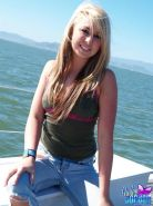 Pictures of teen star Hailee Jordan getting nude on a boat
