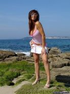 Pics of Nayara Blue teasing outside with her hot body