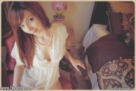 Ivy Snow is your smoking hot china doll and wants you to watch her play with herself