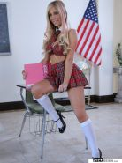 Busty schoolgirl Tasha Reign gets bored in detention and decides to masturbate