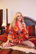 Julia Ann shows off her beautiful body in her bedroom