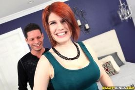 Redhead girl Velma fucks for the first time on camera