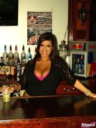 Pictures of Briana Lee getting wild on a bar