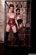 Miss Crash and Hollis Ireland get kinky in a dungeon in LA