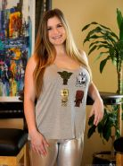 Busty hottie Danielle FTV gets naughty in her Star Wars shirt