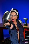 Jessica Jaymes was working all day in her mechanic shop when she felt horny