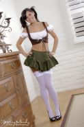 Destiny Moody looking sweet as Grandma's strudel in her traditional German girl outfit