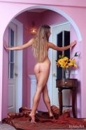 Beautiful blonde teen Lina Diamond displays her gorgeous tight body just for you