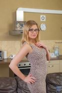 Blonde amateur in glasses Nadin does unbelievably naughty things to pay for college