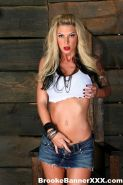 Big Boobed Brooke Gets Naughty In Her Knee High Leather Boots