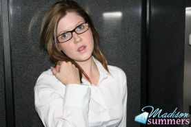 Pictures of teem secretary Madison Summers flashing you on the elevator