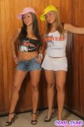 Pics of two latina twins shaking their asses in hooters uniforms