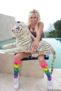 Hot teen Tessa Taylor gets fucked in her colourful socks