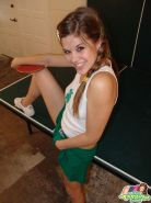 Teen Topanga gets naughty for you while playing table tennis