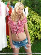 Gorgeous blonde girl Zemira A is your sexy country girl