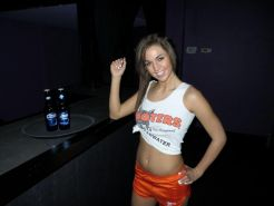 Teen girl Val Midwest shows what's up her hooters skirt