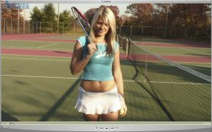 Screencaps of Ann Angel getting kinky with a tennis racket