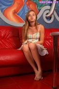 Pics of teen cutie Kristina Fey teasing with her hot mouth