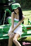 Pictures of Raven Riley playing golf in the nude