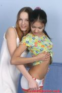 Two teen lesbians fooling around