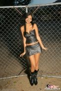 Pictures of teen cutie Karla Spice dressed as a hot dominatrix