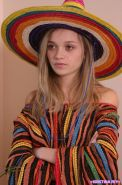 Kristina Fey strips out of her sexy Mexican outfit just for you