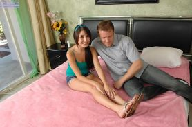 Missi Daniels eagerly fucks her man reverse cowgirl