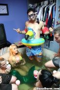 Hot dare dorm sex action with Marina Angel and her friends