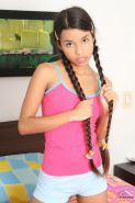 Cute latin teen Little Lupe is ready to show you a boobyfull time!
