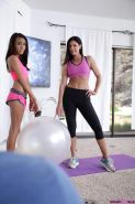 India Summers teaches stepdaughter Janice Griffith how to have a raunchy threesome