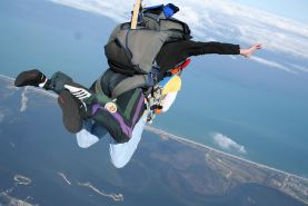 Pictures of Samantha Gauge and Brooke Skye going sky diving